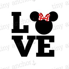 Choose Your Color LOVE Minnie Mouse Bow Disney Vacation Iron On Transfer Printable Minnie Mouse Bow, Mickey Mouse Birthday, Mickey Mouse Silhouette, Apple Watch Wallpaper, Disney Vacations, Disney Cruise, Disney Diy, Travel Memories, Disney Shirts
