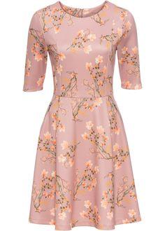 Scuba-kjole vintagerosa blomstret bestill nå i online shop til bonprix.no fra 199.- kr . Leken scuba-kjole med utsvinget skjørt. Åpne snittkanter på ermene ...
