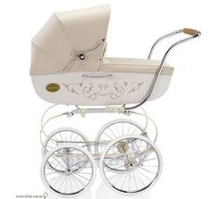 Beautiful, old fashioned design for a baby carriage