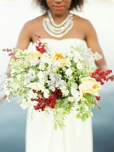 Lush, Free Form Bouquet Featuring White/Yellow Monte Casino Daisies, Yellow Parrot Tulips, Dusty Miller, Greenery & Foliage>>>>