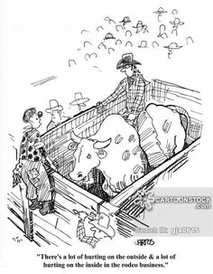 Rodeo Clown With Bull Coloring Picture Jpg 720 215 540
