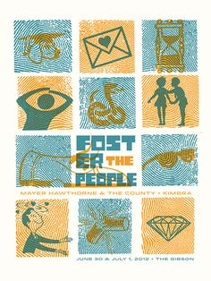 GigPosters.com - Foster The People (Ok, these posters are of awesomeness)