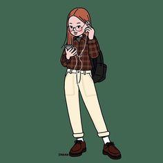 This is Sinana Illustrator based on fashion illustration. Character Illustration, Illustration Art, Character Art, Character Design, Korean Aesthetic, Aesthetic Drawing, Cartoon Art Styles, Girl Cartoon, Cute Drawings