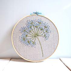 Blue wild flowers embroidery hoop art Floral wall art Hand | Etsy Embroidery Sampler, Embroidery Transfers, Hand Embroidery Stitches, Embroidery Hoop Art, Hand Embroidery Designs, Vintage Embroidery, Ribbon Embroidery, Floral Embroidery, Machine Embroidery