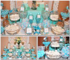 Tiffany Blue Theme Wedding Candy & Dessert Buffet | Flickr - Photo Sharing!