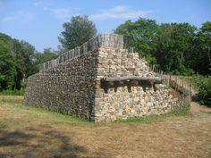 Bibracte Porte Rebout - Bibracte - Wikipedia, wall from La Tene period; the free encyclopedia