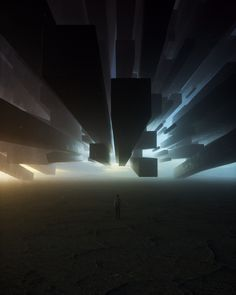 Eerie Everyday Digital Art by Stuart Lippincott Arte Sci Fi, Sci Fi Art, Sci Fi Fantasy, Fantasy World, Fantasy Places, Futuristic Art, Alien Art, Environment Concept Art, Fantasy Landscape