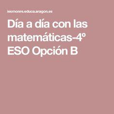 Día a día con las matemáticas-4º ESO Opción B