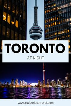 Use this post to learn about the best things to do in Toronto at night. Toronto is the captital of Canada and is full of exciting things to do. Toronto at night is stunning, learn more now! #Toronto #Canada #NorthAmerica Canada Destinations, Amazing Destinations, Alberta Canada, Cool Places To Visit, Places To Go, Oregon, Canada Vancouver, Arizona, Bag Essentials