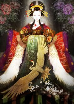 This is Oiran And Not a Geisha Kimono Animé, Anime Kimono, Geisha Art, Geisha Anime, Art Asiatique, Japanese Geisha, Geisha Japan, Japanese Kimono, Japanese Painting