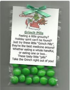 DIY your Christmas gifts this year with 925 sterling silver photo charms from GLAMULET. they are compatible with Pandora bracelets. NEW Grinch Pills Chocolate Candy Stocking Stuffer Novelty Gag Gift Humbug Grinch Christmas, Christmas Goodies, Christmas Humor, Christmas Holidays, Christmas Decorations, Christmas Candy Gifts, Funny Christmas Gifts, Santa Gifts, Christmas Quotes