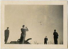 Airplane, vintage snapshot from the collection of Angelica Paez.