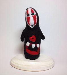 Handmade in Felt NoFace Kaonashi Doll from by annatrimmeldesigns