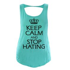 Womens Plus Size Top Keep Calm Butterfly Muscle Tank, Mint