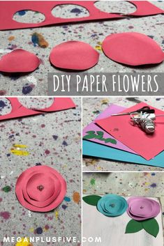 How to make paper flowers without a cutting machine — Megan plus FIVE