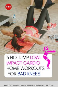 Are you starting to home full body workout at home and have knee pain?or just to reduce the impact on your knees? Or you have painful bad knees and high-impact exercise just isn't in your future…at all? TRY THESE EASY FULL BODY NON-IMPACT & no jump WORKOUTS 👍 Workouts to do at home,workout at home,workout for women,home workouts,motivated to workout,strength,belly fat,strength motivation,workout for beginners workout beginners,weight loss,low impact cardio workout, bad knees,Arthritis