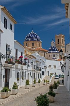 Spain Travel Inspiration - The mediterranean town of Altea, famous for its white buildings, Alicante, Spain