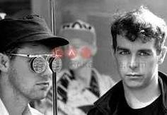 Pet Shop Boys in 1986 in Kings Road, London.