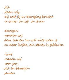 gedicht overleden kind sterretje - Google zoeken