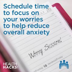 Believe it or not, designating 'worry time' can actually help you manage stress, since it lets you conquer anxieties in a more organized way.