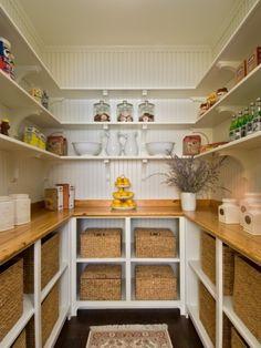 Organisieren Sie Ihre Speisekammer korb