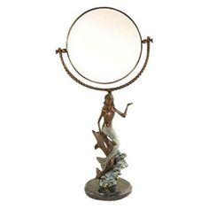 mermaid bathroom | Mermaid and Dolphin Mirror - Bathroom Mirrors at Hayneedle