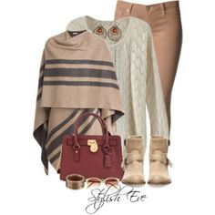 Striped&Maroon outfit!