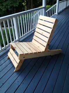 Folding pallet chair.