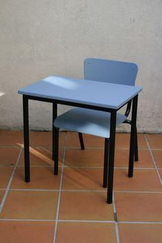 "Bureau vintage ""Haribo"" bleu"