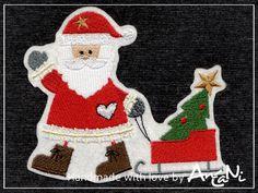 Aufnäher Weihnachtsmann ♥ Applikation Weihnachten von AnCaNi auf DaWanda.com