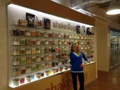Shakeology Wall and all the ingredients in Shakeology. So cool to see up close and personal what exactly is in the amazing stuff I drink for Breakfast every morning.