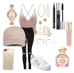 """Untitled #199"" by sdesir on Polyvore featuring Topshop, adidas, Bling Jewelry, Bloomingdale's, Michael Kors, NARS Cosmetics, Christian Dior, Smith & Cult, Tory Burch and Speck"