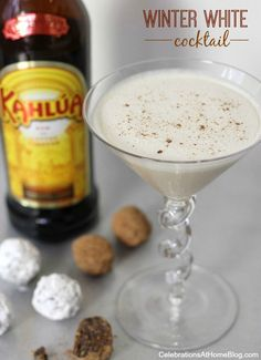 Winter White Cocktail 4 oz cold milk 3/4 cup Kahlúa 3/4 cup chocolate liqueur 1 large dollop of cool whip