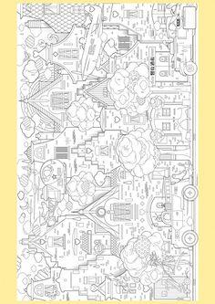 超大型着色画像: 都市 8772  ディズニー イラスト 無料