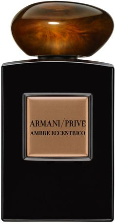 Discover Ambre Eccentrico from the Armani Prive Collection by Giorgio Armani Beauty. A powerful and unforgettable Signature fragrance with ambery, woody notes. Perfume Diesel, Best Perfume, Perfume Bottles, Armani Prive Perfume, Armani Parfum, Chanel Chance, Giorgio Armani Beauty, Armani Collection, Shopping