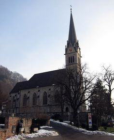 Vaduz Cathedral, or Cathedral of St. Florin is a neo-Gothic church in Vaduz