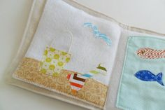 Soft Quiet Cloth Fabric Activity Book for Baby by WoodPondDesigns, $37.00