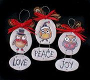Clay and rubber Stamps Owl Christmas Ornamments Kids Can Make from www.daniellesplace.com