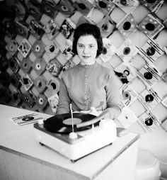 Working at a record store, 1959. It's changed a great deal, trust me I know.