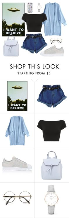 """i want to believe"" by gacds ❤ liked on Polyvore featuring Helmut Lang, adidas, Alexandra de Curtis, CLUSE and Milkyway"