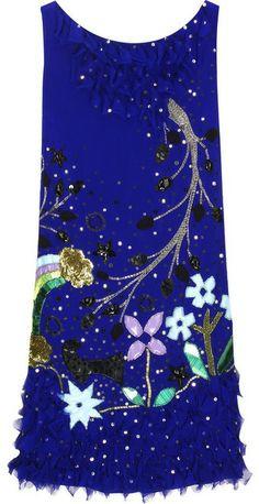 ANNA SUI | Rainbow Fields embellished dress ($1,055)