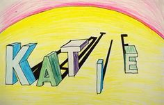 Artsonia Art Gallery - 4TH GRADE NAME IN 1PT. PERSPECTIVE '14-'15
