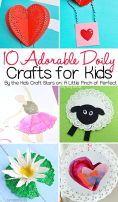 10 Adorable Doily Crafts for Kids to Make including animals, flowers, dolls, and more!