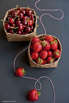 Upcycled Grocery Bag Fruit Basket