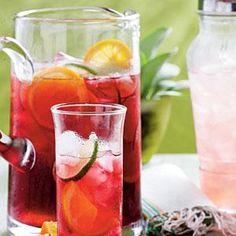 Offer beautiful, ruby red Iced Hibiscus Sweet Tea as a refreshing alternative to regular iced tea.