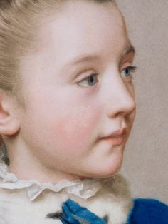 Maria Frederike van Reede-Athlone at Seven (detail) / Jean-Étienne Liotard / Pastel on vellum, ca. 1755 - 1756 / The J. Paul Getty Museum