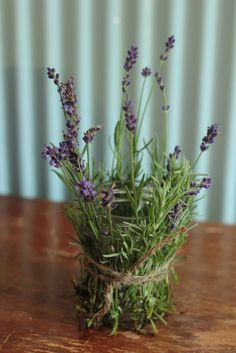 Lavender wrapped votives