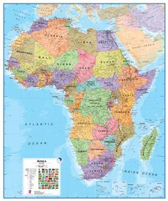 Africa Physical Map Maps Pinterest Geography