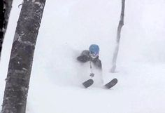 Deep Japanese Powder Skiing!