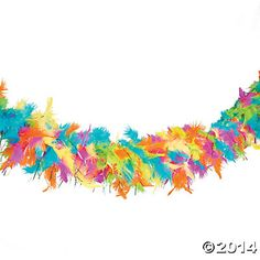 Wild Wonders VBS Feather Garland, Garland, Party Decorations, Party Supplies - Oriental Trading